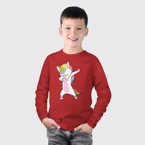 Детский лонгслив хлопок Единорог радуга  Фото 01