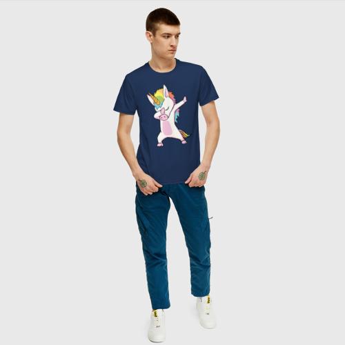 Мужская футболка хлопок Единорог радуга  Фото 01