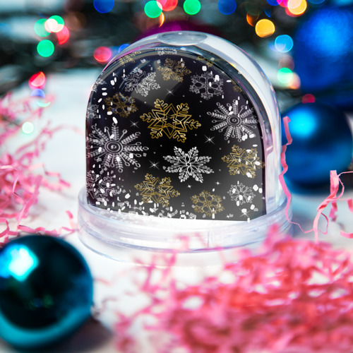 Водяной шар со снегом  Фото 03, Снежинки