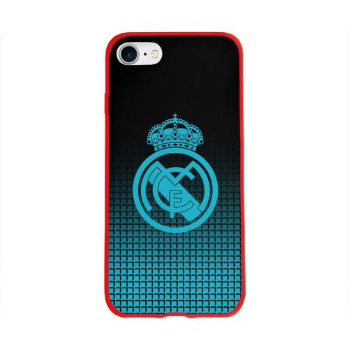 Чехол для Apple iPhone 8 силиконовый глянцевый Real Madrid 2018 Original