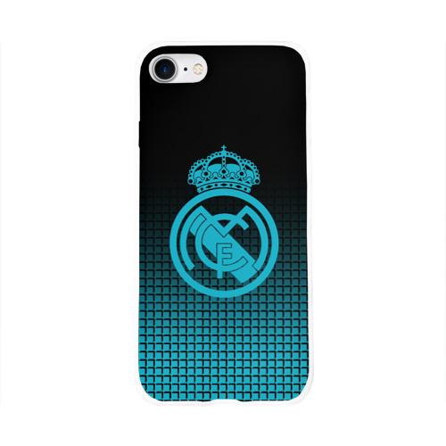 Чехол для Apple iPhone 8 силиконовый глянцевый  Фото 01, Real Madrid 2018 Original