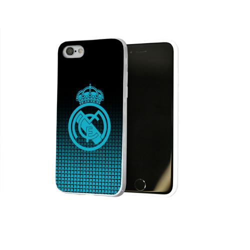 Чехол для Apple iPhone 8 силиконовый глянцевый  Фото 02, Real Madrid 2018 Original