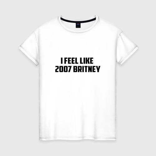 Женская футболка хлопок I feel like