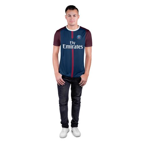Мужская футболка 3D спортивная  Фото 04, Neymar home PSG 17-18