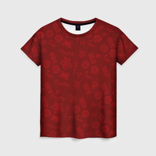 Женская футболка 3D Очень Странные дела  Бомбинг