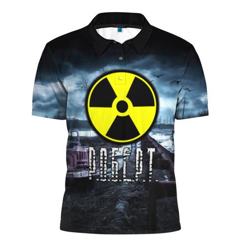 Мужская рубашка поло 3D  Фото 01, S.T.A.L.K.E.R. - Р.О.Б.Е.Р.Т.