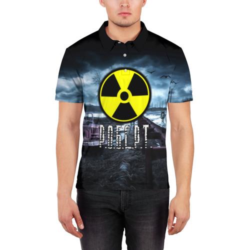 Мужская рубашка поло 3D  Фото 03, S.T.A.L.K.E.R. - Р.О.Б.Е.Р.Т.