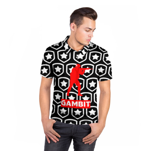 Мужская рубашка поло 3D  Фото 05, GAMBIT counter strike