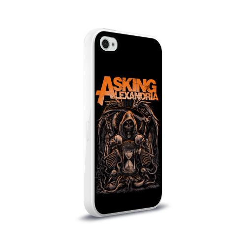 Чехол для Apple iPhone 4/4S силиконовый глянцевый  Фото 02, Asking Alexandria