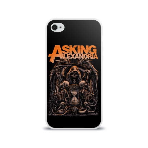 Чехол для Apple iPhone 4/4S силиконовый глянцевый  Фото 01, Asking Alexandria