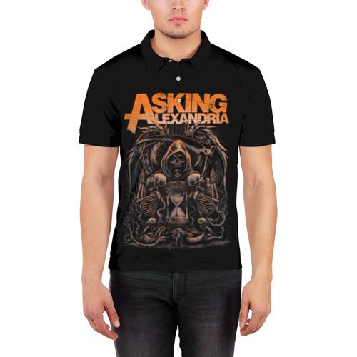 Мужская рубашка поло 3D  Фото 03, Asking Alexandria