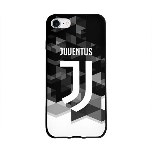 Чехол для Apple iPhone 8 силиконовый глянцевый  Фото 01, Juventus 2018 Geometry Sport