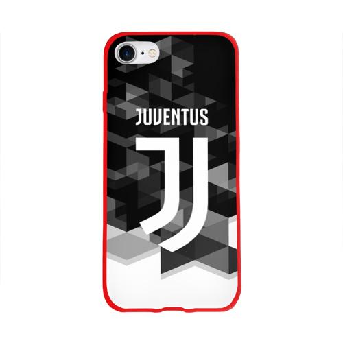 Чехол для Apple iPhone 8 силиконовый глянцевый Juventus 2018 Geometry Sport