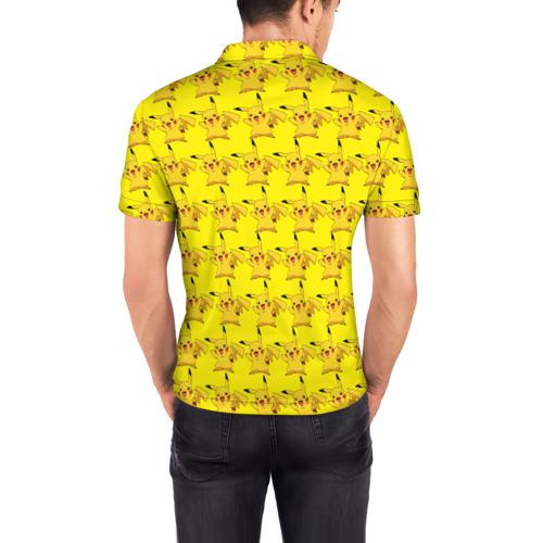 Мужская рубашка поло 3D  Фото 04, Пикачу бомбинг