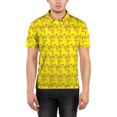 Мужская рубашка поло 3D  Фото 03, Пикачу бомбинг