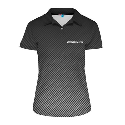 Женская рубашка поло 3D AMG CARBON