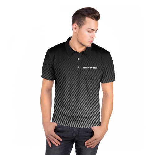 Мужская рубашка поло 3D  Фото 05, AMG CARBON
