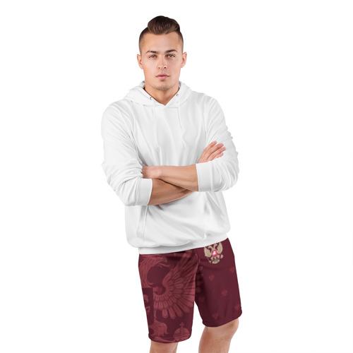 Мужские шорты спортивные Герб России Фото 01