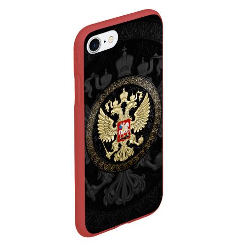 Чехол для iPhone 7/8 матовый Герб России Фото 01