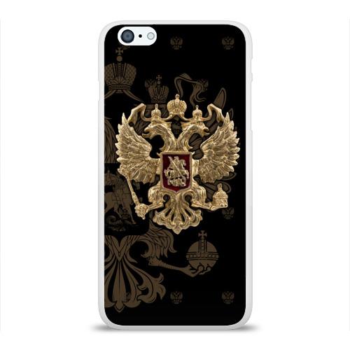 Чехол для Apple iPhone 6Plus/6SPlus силиконовый глянцевый  Фото 01, Герб России