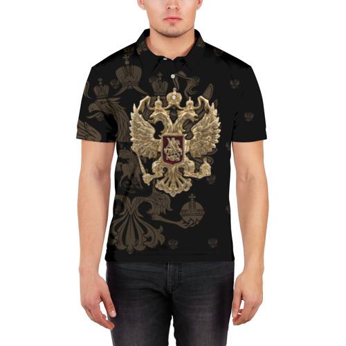 Мужская рубашка поло 3D  Фото 03, Герб России