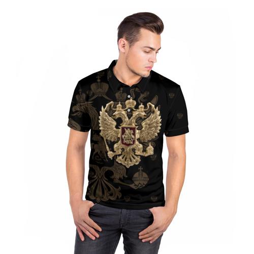 Мужская рубашка поло 3D  Фото 05, Герб России