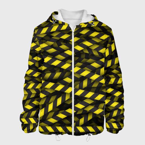 Мужская куртка 3D  Фото 01, Черно-желтая лента