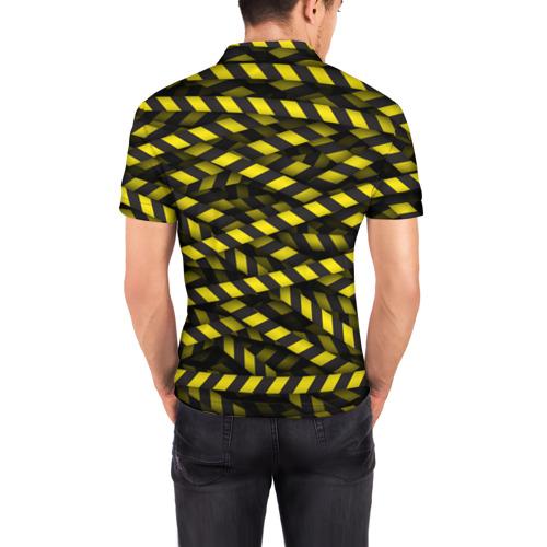 Мужская рубашка поло 3D  Фото 04, Черно-желтая лента