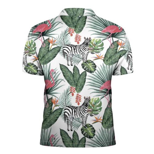 Мужская рубашка поло 3D  Фото 02, Саванна