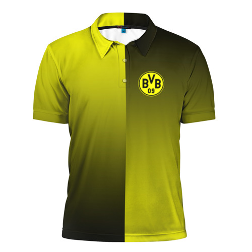 Мужская рубашка поло 3D  Фото 01, FC Borussia 2018 Reverse