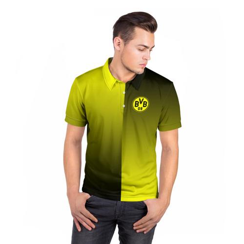 Мужская рубашка поло 3D  Фото 05, FC Borussia 2018 Reverse
