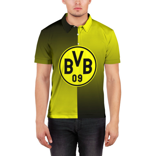 Мужская рубашка поло 3D  Фото 03, FC Borussia 2018 Reverse