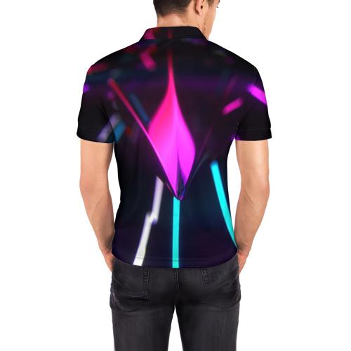 Мужская рубашка поло 3D  Фото 04, Neon Lights