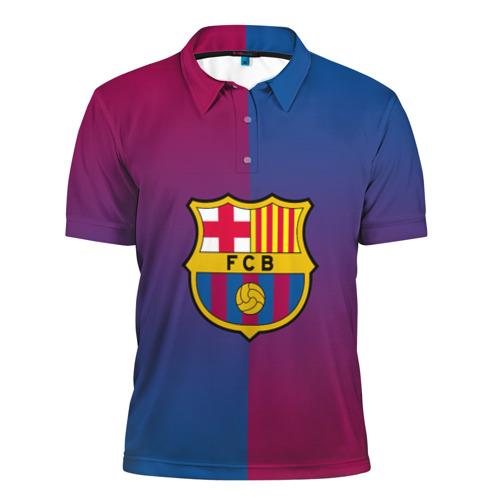 Мужская рубашка поло 3D  Фото 01, FC Barca 2018 Reverse
