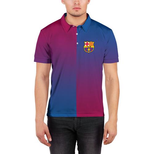 Мужская рубашка поло 3D  Фото 03, FC Barca 2018 Reverse