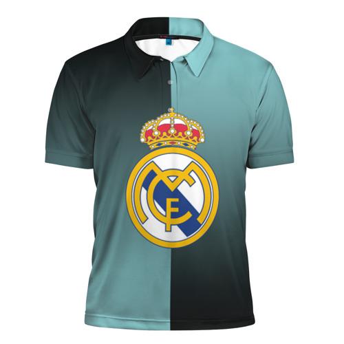 Мужская рубашка поло 3D  Фото 01, Real Madrid 2018 Reverse