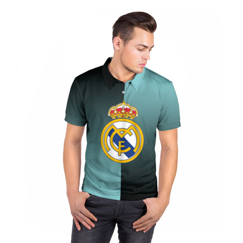 Мужская рубашка поло 3D  Фото 05, Real Madrid 2018 Reverse