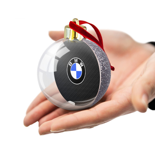 Ёлочный шар с блестками  Фото 03, BMW CARBON