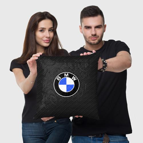 Подушка 3D BMW CARBON  Фото 01