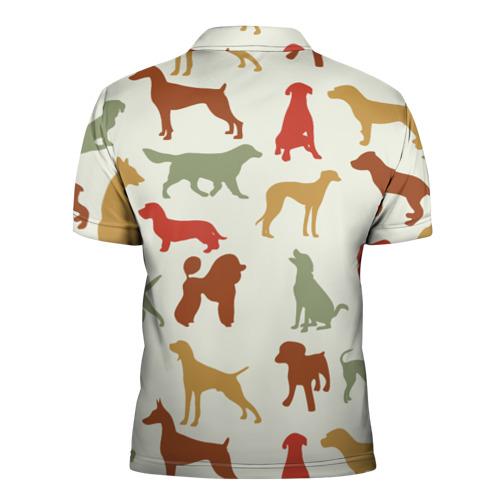 Мужская рубашка поло 3D  Фото 02, Силуэты собак