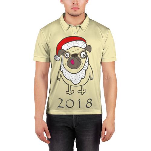 Мужская рубашка поло 3D  Фото 03, Прикольный Санта
