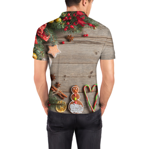 Мужская рубашка поло 3D  Фото 04, Запах нового года