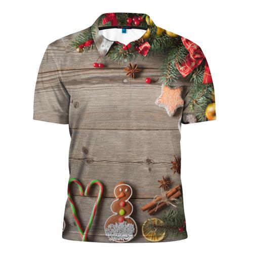 Мужская рубашка поло 3D  Фото 01, Запах нового года