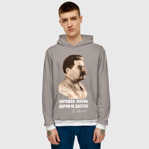 Мужская толстовка 3D Сталин Фото 01