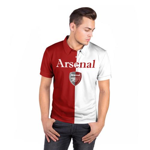 Мужская рубашка поло 3D  Фото 05, Arsenal