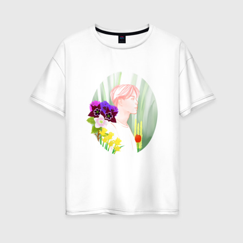 Женская футболка хлопок Oversize BTS_Jimin Фото 01