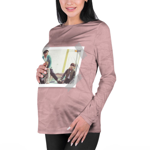 Женский лонгслив 3D для беременных  Фото 01, BTS _2