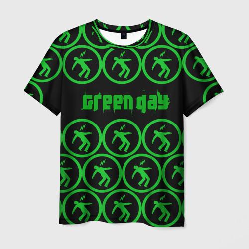 Мужская футболка 3D  Фото 01, Green day collection rock