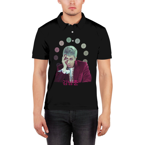 Мужская рубашка поло 3D  Фото 03, BTS_namjoon