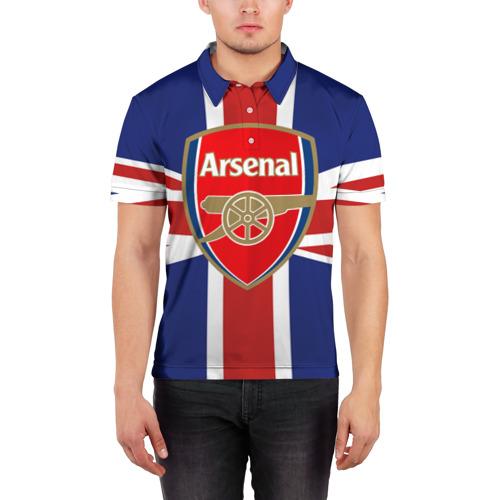 Мужская рубашка поло 3D  Фото 03, FC Arsenal
